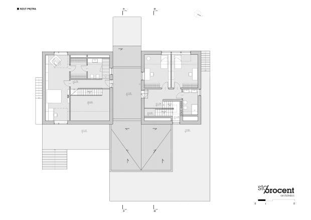 Projekt przebudowy domu z Zalesia Górnego - rzut piętra