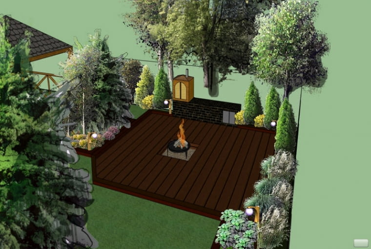 Prace konkursowe - wgłębnik z miejscem na ognisko