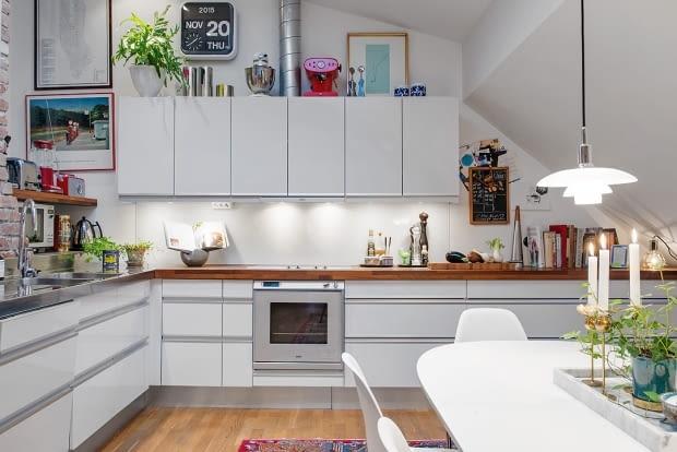 mieszkanie na poddaszu, miezkanie w skandynawskim stylu, nowoczesne mieszkanie