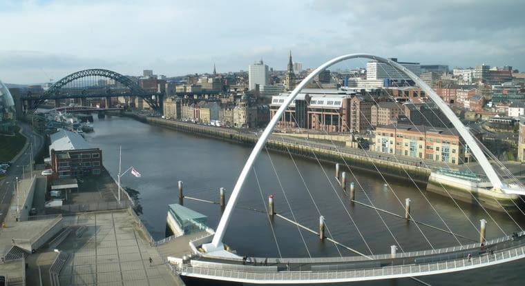 Most Gateshead Millennium, Newcastle, Wielka Brytania