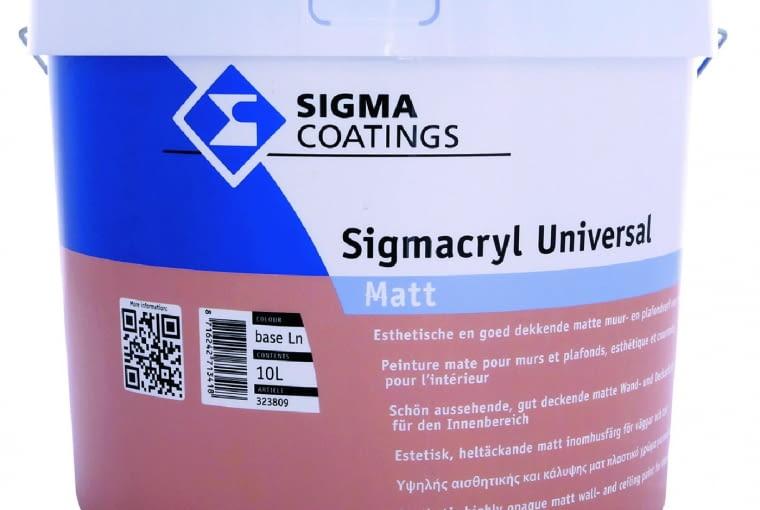 Sigmacryl Universal Sigma Coatings/PPG DECO POLSKA| Rodzaj: farba akrylowa | wydajność: 10 m2/l | odporność na szorowanie: klasa 2 wg normy PN-EN 13300 | stopień połysku: matowa | kolory: biały + kolory z systemu Color Pro | opakowania: 1 l, 5 l, 10 l (biały); 1 l, 5 l, 10 l (baza LN, ZN, DN, ZX). Cena: 175,40 zł/5 l, www.sigmacoatings.com.pl