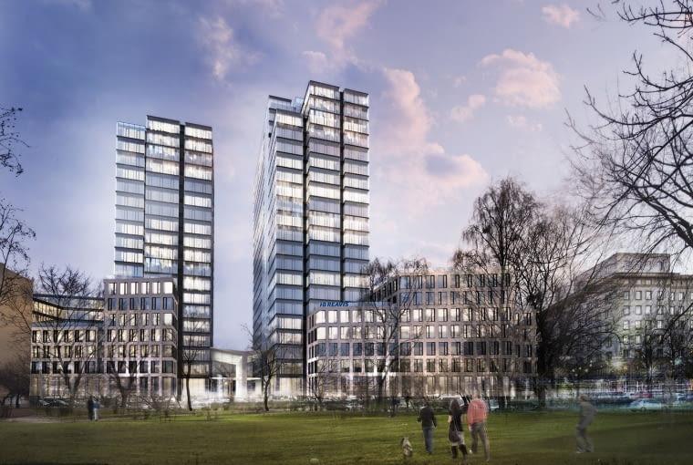 Inwestycja HB Reavis przy ulicy Chmielnej w Warszawie - budynki wokół wieżowca Varso