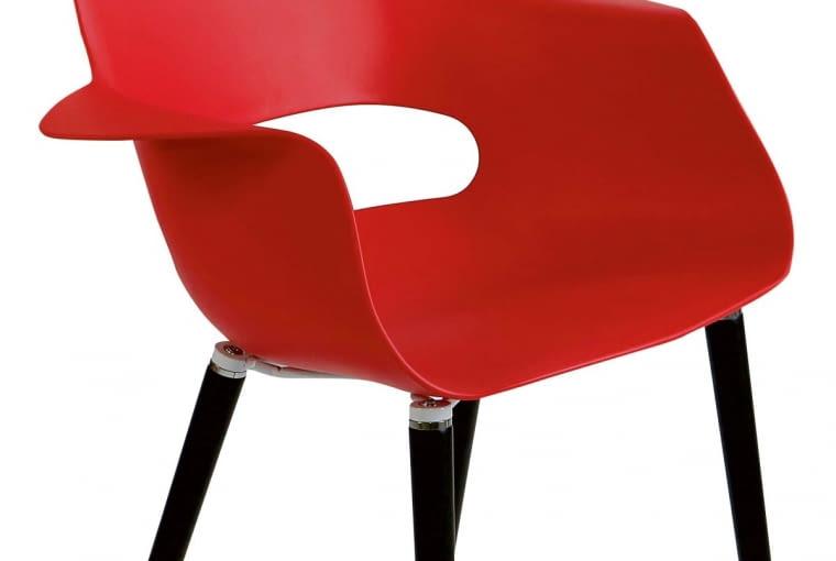 W stylu tego wnętrza: Krzesło, tworzywo sztuczne i drewno bukowe, 283 zł, dotd.pl