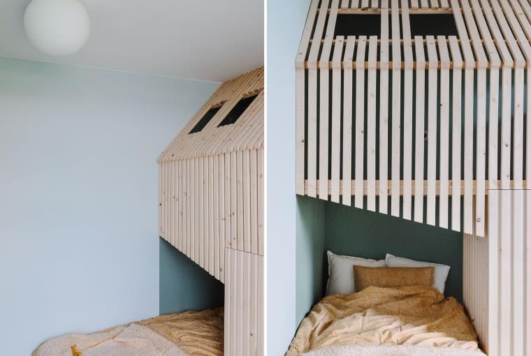 'Domek' zapewnia przestrzeń do przechowywania i do zabawy.