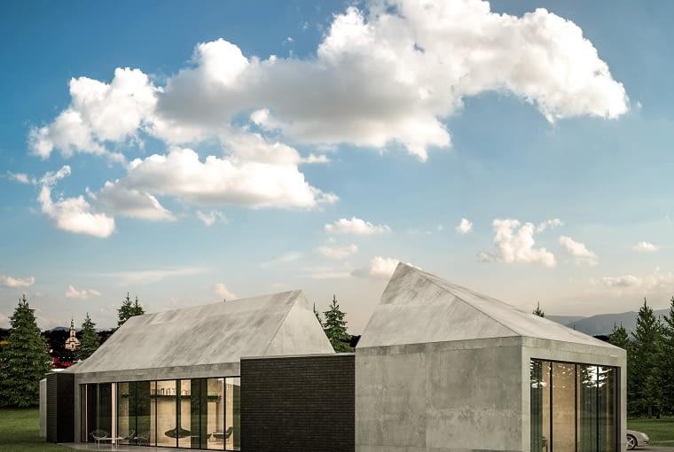 Dom z widokiem na Beskidy - wizualizacja