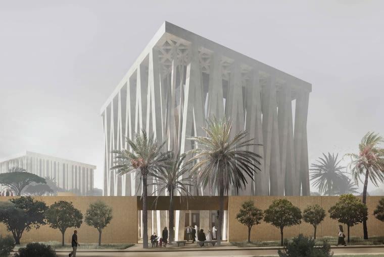 Dom Abrahama w Abu Zabi - synagofa. Proj. Adjaye Associates