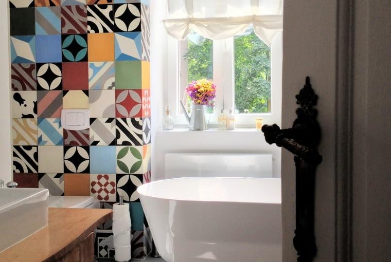 płytki cementowe, płytki kolorowe do łazienki