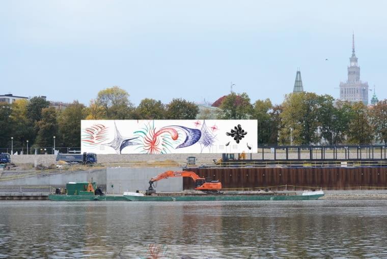 Zwycięski projekt plastyczny fasady tymczasowej siedziby Muzeum Sztuki Nowoczesnej w Warszawie - autor Sławomir Pawszak