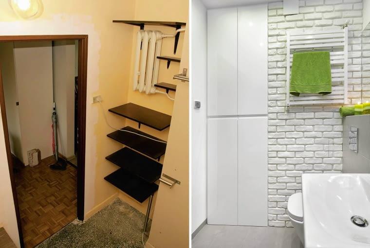 Łazienka przed i po, metamorfoza