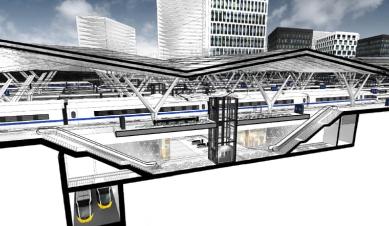 Koncepcja przebudowy stacji Warszawa Zachodnia