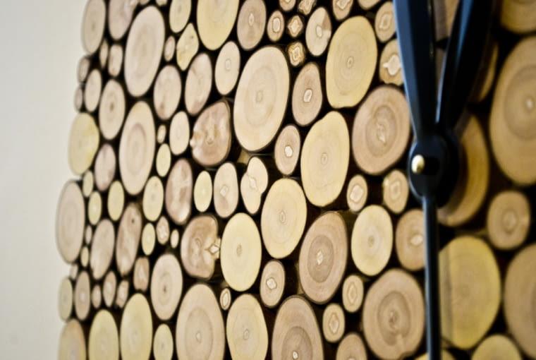zegar, drewno, surowe drewno, drewniany zegar, zegar z surowego drewna, woodlovers, little