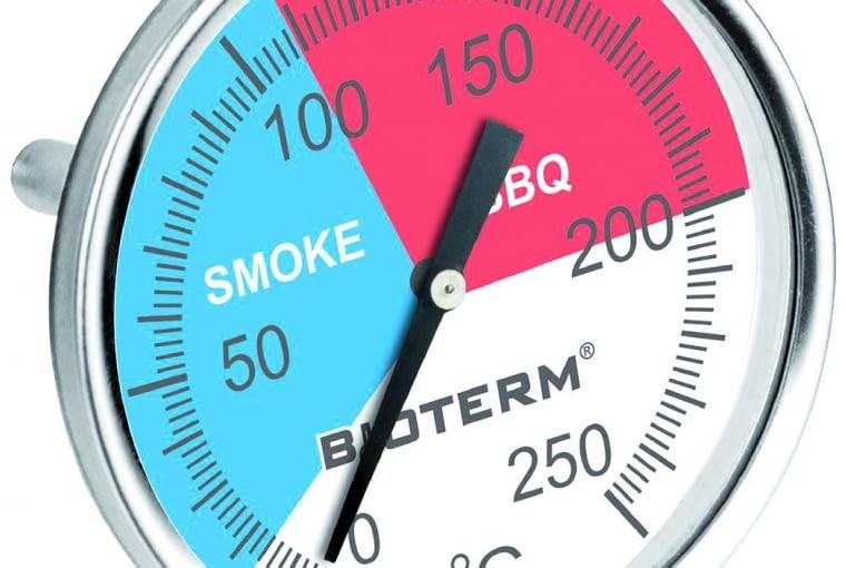 Termometr do mięs/Bioterm/PRAKTIKER Służy do mierzenia temperatury podczas procesu wędzenia czy w czasie grillowania. Cena: 29,99 zł, www.praktiker.pl