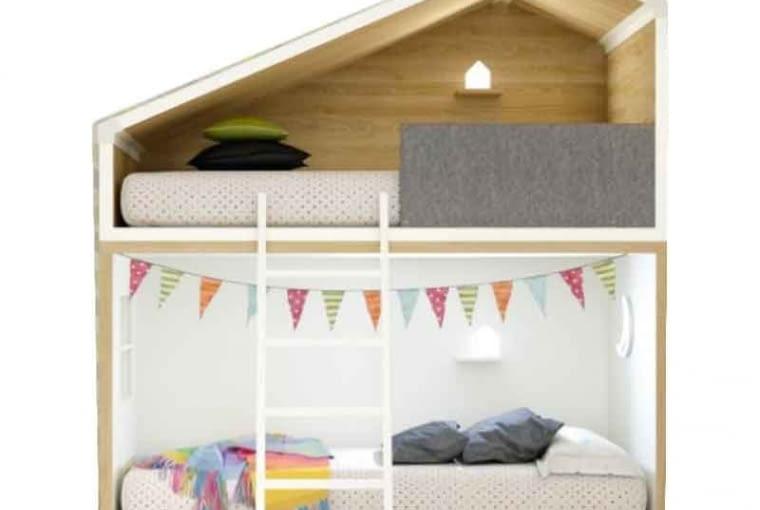 Piętrowe łóżko Cottage