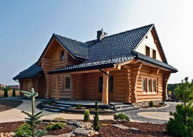 Dom z bali,domy drewniane