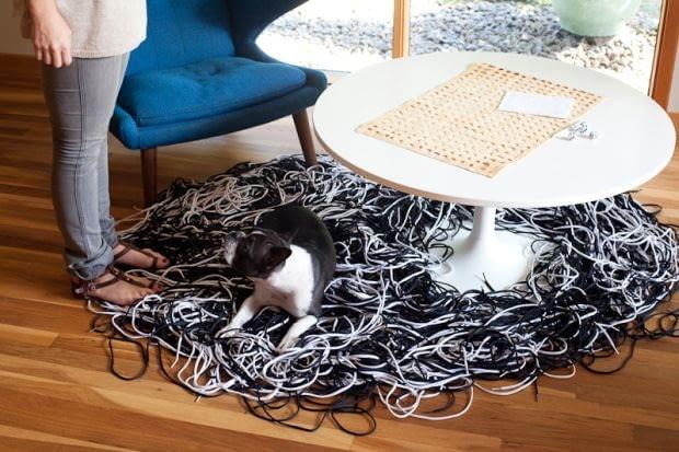 Dywan ze sznurowadeł, dywan, sznurowadła