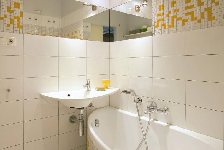 łazienki, płytki łazienkowe, mozaika