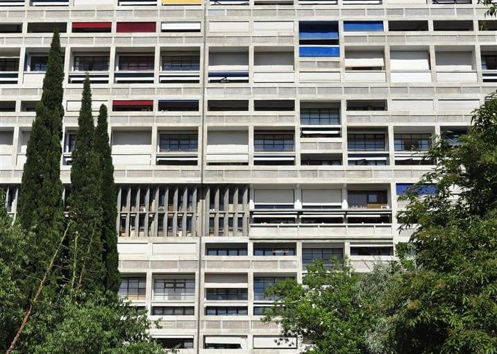 Jednostka Marsylska, proj. Le Corbusier - fasada zachodnia