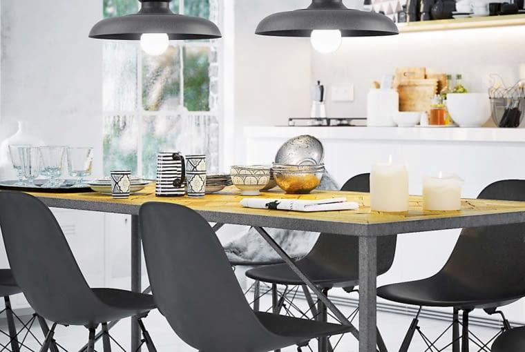 A gdyby tak dobrać lampy do barwy mebli? To pozwoli wyeliminować stylistyczny chaos we wnętrzu.