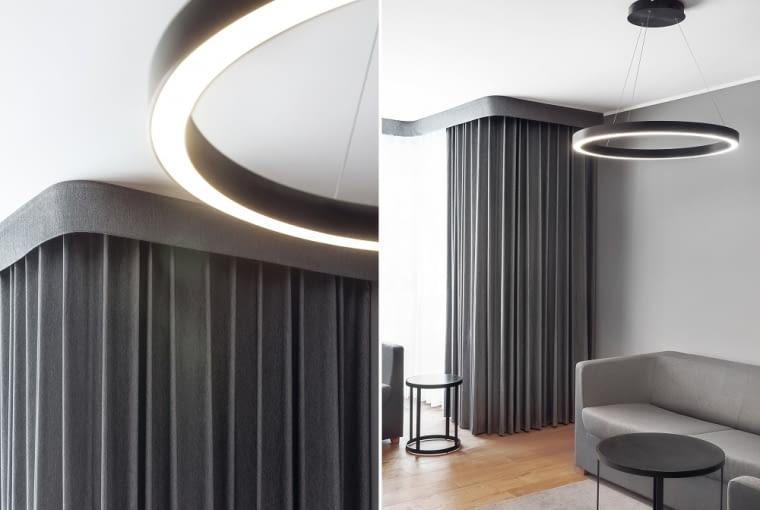 Wnętrze pokoju w Hotelu Number One na gdańskiej Wyspie Spichrzów, projekt pracownia Ideograf