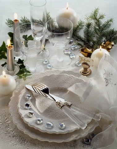 Table Set For Celebration --- Image by P.Hussenot/photocuisine/Corbis