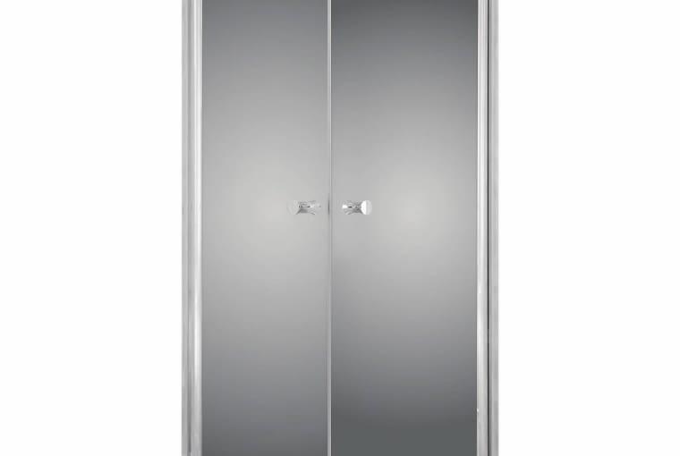 Kabina prysznicowa Fresh Line Sigma, szkło (lustro), 90 x 90 cm, wys. 195 cm, drzwi uchylne, Leroy Merlin, cena: 1598 zł