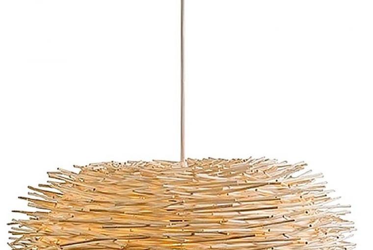 Lampa wisząca, drewno i metal, 435 zł, lampyiswiatlo.pl