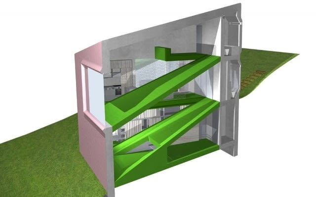 czechy, nietypowe budynki, elewacja, dom jednorodzinny