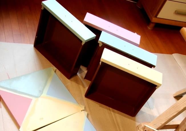 Kolorowe szuflady