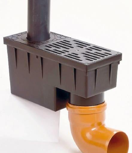 wpust podwórzowy,deszczówka,odprowadzanie wody deszczowej