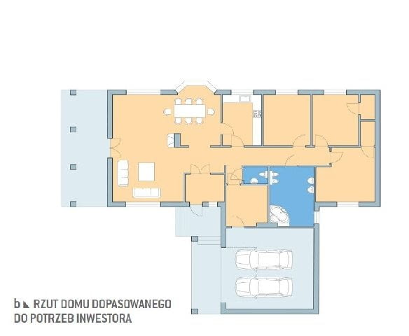 Projekt domu z katalogu - rzut domu dopasowanego do potrzeb inwestora