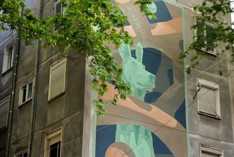 Mural Mots w Tiranie.