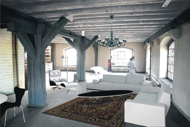 Projekt wnętrz loftów projektu medusa group