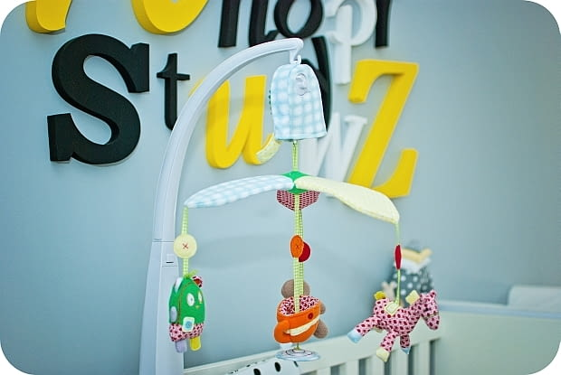 kącik dla dziecka, łóżko niemowlaka, wasze wnętrza, jak wydzielić kącik dla dziecka