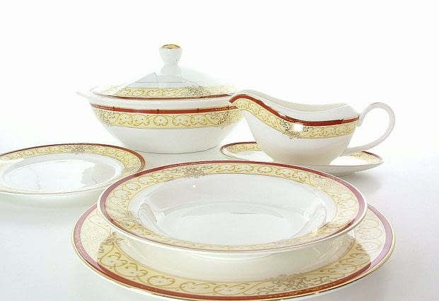 serwisy obiadowe, porcelana