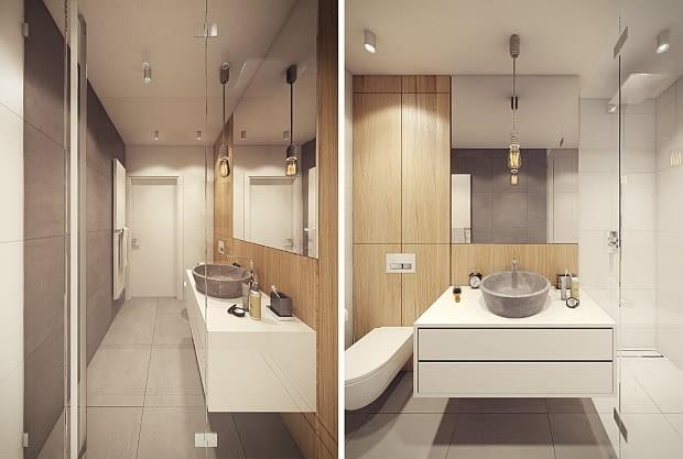 łazienka, mieszkanie, nowoczesne mieszkanie, nowoczesne wnętrza