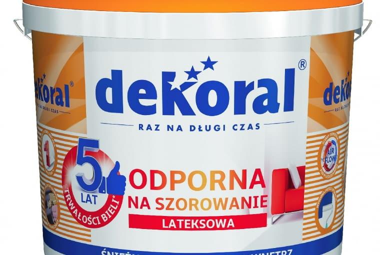 Akrylit W biały/DEKORAL| Rodzaj: farba akrylowa | wydajność: do 14 m2/l przy jedynej warstwie | odporność na szorowanie: klasa 3 wg PN-EN-13300 | kolor: śnieżnobiały | stopień połysku: matowa | opakowania: 1 l, 3 l, 5 l, 10 l, 15 l.Cena: 41,88 zł/3 l; 121,79 zł/10 l, www.dekoral.pl