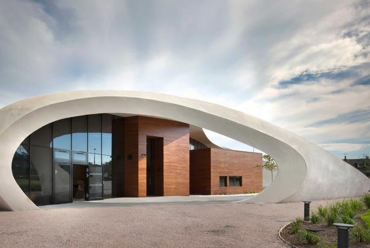 Maggie's Centre w Aberdeen. Proj. Snohetta