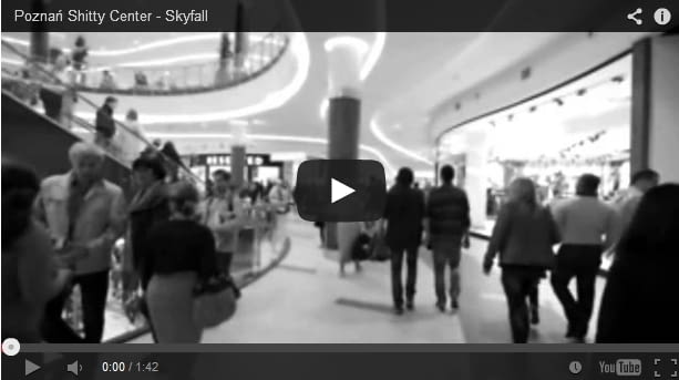 """Poznań City Center z podkładem muzycznym """"Skyfall"""""""
