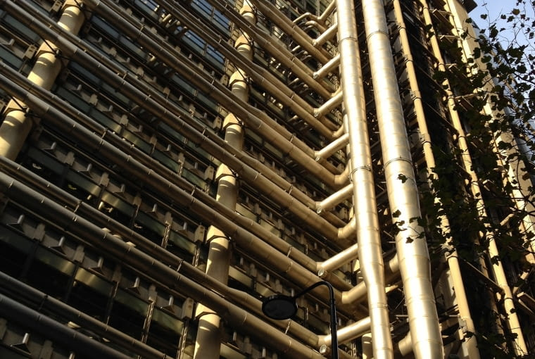 Lloyd's building, Londyn, proj. Richard Rogers