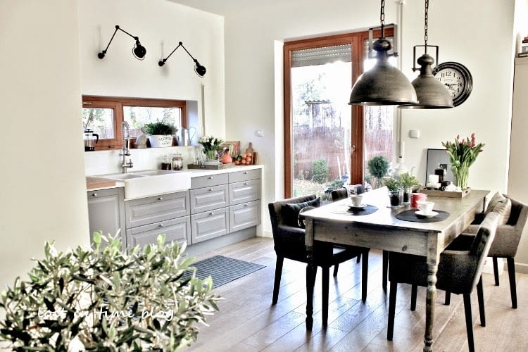 Dom, salon, kuchnia, jadalnia