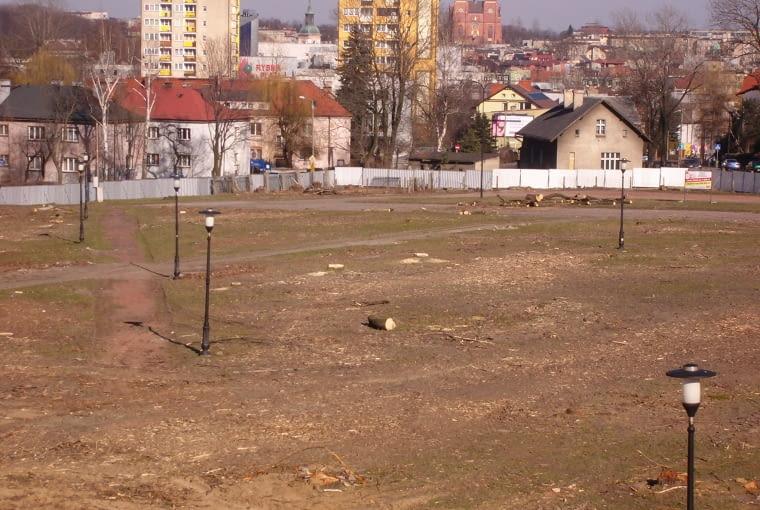 Tu był kiedyś park