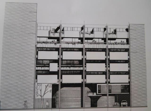 Projekt Polskiego Konsulatu Generalnego w Paryżu, 1975, proj. Henryk Włodarczyk