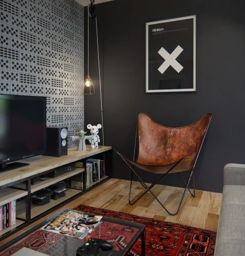 mieszkanie dla pary, mieszkanie w szarościach, nowoczesne mieszkanie, stylowe mieszkanie