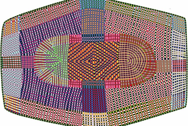Freeky inspirowany motywami etnicznymi dywan projektu Bertjana Pota, Moooi Carpets.