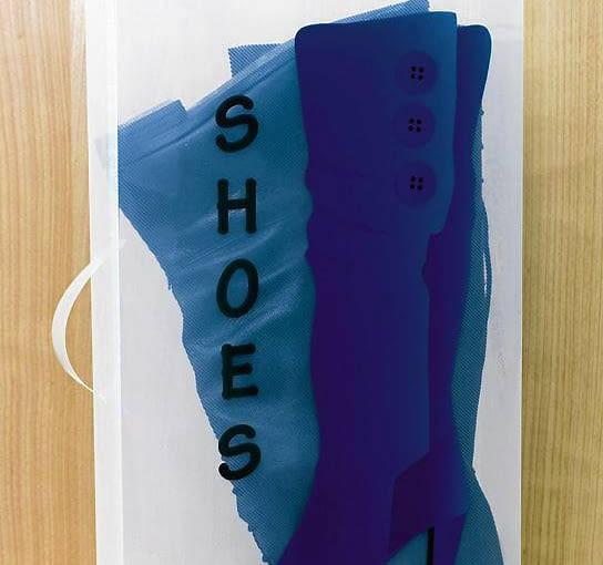NIEBIESKI BUT, pudełko na buty, 51,5 x 30 cm, wys. 11,5 cm, weltbild.pl, cena: 14,90 zł