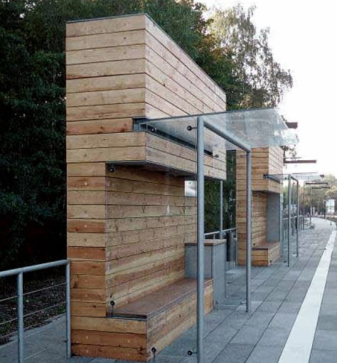 Despang Architekten, przystanki, przystanek, niemcy, hannover, mała architektura, mała bryła