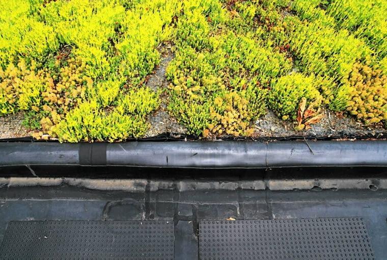 Tutaj warstwa folii na brzegach pełni funkcję nie tylko izolacji, ale też rynny odprowadzającej nadmiar wody.