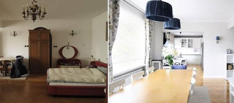 Zmiana ustawienia ścian i ich kolorystyki, usytuowania lamp, mebli, dekoracji okiennych i dodatków sprawiły, że powstało zupełnie nowe wnętrze.