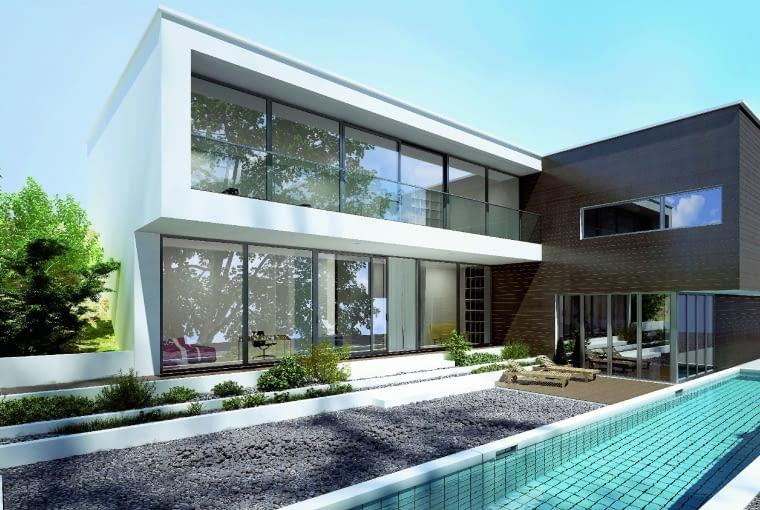 Doskonałe parametry profili aluminiowych pozwalają na produkcję bardzo dużych okien