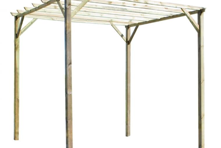 Taka pergola pokryta panelami z PVC może służyć jako altana wypoczynkowa; pergola/wiata Ancolie Forest Style, 458 zł Zasada montowania takich konstrukcji jest następująca: w wybranym miejscu najpierw mocuje się podporę, a dopiero potem sadzi przy niej rośliny